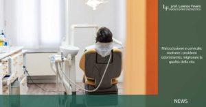 malocclusione e cervicale: paziente di spalle su poltrona dello studio